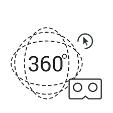 360 web virtual reality elearning service icon