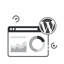 reporting and wordpress icon